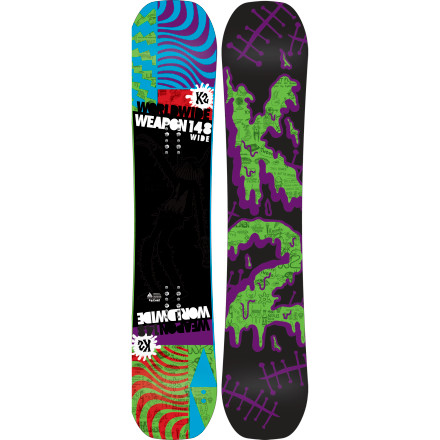 Snowboard Unlock the secrets of the rad with the K2 World Wide Weapon Wide Snowboard. The WWW Wide uses K2's fun-enhancing Jib rocker to make it your extra-large key for crushing kickers and cranking out creative jib combos. - $239.97