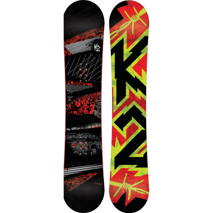 Snowboard Big-footed feet will evolve into park-, powder-, and groomer-crushing titans with The K2 Brigade Wide Snowboard. A wider waist accommodates the length of your big dawgs while Catch-Free rocker enables awesomeness all over the place. - $179.97