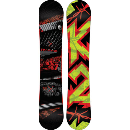 Snowboard Designed with a playful and forgiving catch-free rocker and a soft flex, the K2 Brigade Snowboard has every intention of boosting your intermediate skills into Advanced Land in one season. - $209.97