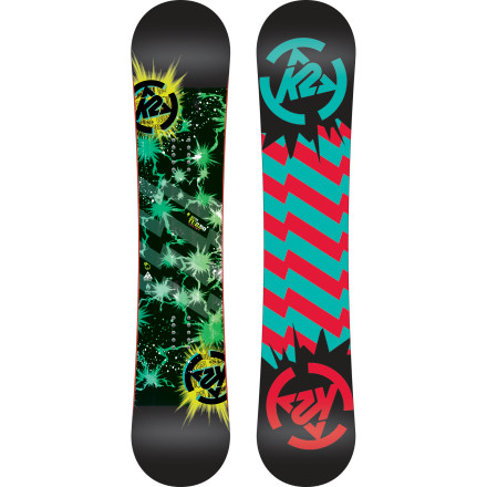 Snowboard K2 is smart enough to know that the best way to start addiction is get a person hooked at an early age. The Mini Turbo is all about starting junior off having fun with soft-flexing, easy-turning Noodle construction and Catch Free Rocker construction to minimize face-down time. - $95.97