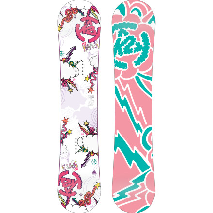Snowboard K2 designed every detail of the Lil Kandi Snowboard to make it easier than ever for first-time riders to progress. The super-soft flex and Catch Free rocker add up to less falling and more learning, which means more fun for both parents and kids alike. - $95.97