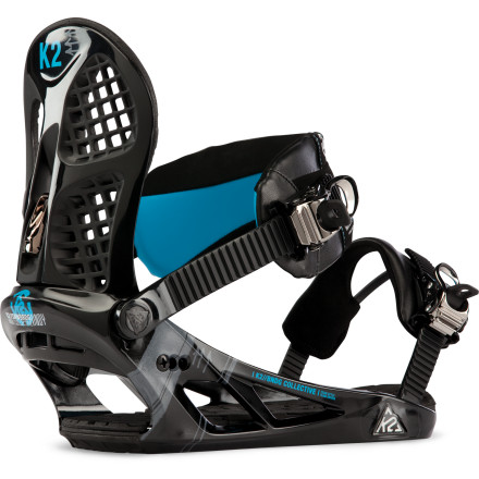 Snowboard With high-end features like asymmetrical highbacks, seamless EVA baseplate padding, and cushy straps, the K2 Indy Snowboard Binding offers more bang for your buck than the 'massage parlor' your creepy uncle visits every Thursday. - $95.97