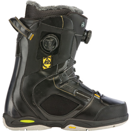 Snowboard The K2 Thraxis Boa Snowboard Boot represents both the evolution of boot technology and riding itself. The envelope-pushing technology found in the Thraxis Boa (such as Triple Boa closure, Harshmellow cushioning, and ENDO construction) combined with a stiff flex make this boot perform both in the resort and in the backcountry. - $269.97