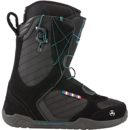 Snowboard The K2 Scene Snowboard Boot offers comfy convenience for the advancing rider who wants to explore the whole mountain. The pull-and-go Zonal Speedlace system gets you on the hill in less time than ever, and the anatomically correct Intuition Comfort Foam 3D liner ensures a cushy, locked-down fit with no heel slip. - $101.97