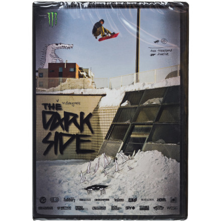 Snowboard The Darkside is the 2012-13 release from Videograss starring some of today's most talented jibbers, including Jordan Mendenhall,  Darrell Mathes, and LNP. Not to mention some of the most-underrated talent out there including Chris Grenier, Danimals, and Jake OE. The Darkside documents obscene urban progression with a smattering of backcountry booters as well as all the antics in-between. - $26.95