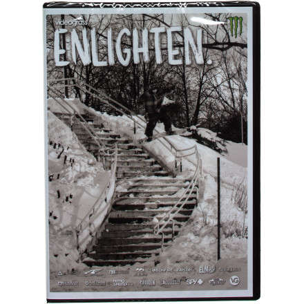 Snowboard The 'other' Videograss crew does it again this year with a ton of new faces in the lineup, and a lot of previously undiscovered backcountry and urban features. If you want a diverse group of riders changing the game from the backcountry to the streets, pick up a copy of Videograss' Enlighten. Featuring Frank April, Jake Kuzyk, Phil Jacques, Will Jackways, Dustin Craven, Bode Merrill, Alex Cantin, Bryan Fox, Eero Niemela, Matt Belzile, Benji Ritchie, and Danny Larsen. - $16.17
