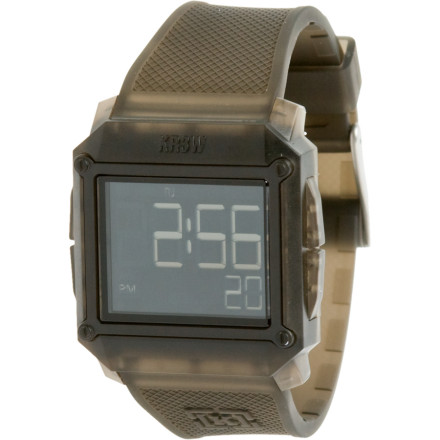 Entertainment Dont be disappointed, your addiction to gaming just helped you stumble upon the KR3W Halo 2 Watch. This giant digital timepiece features a sharp looking blackout LCD face with time, date, and light, so you can make sure you get your proper amount of skating in everyday. - $64.95