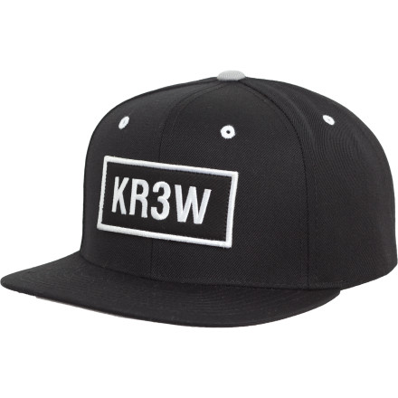 Skateboard The KR3W Seed Patch Snap-Back Starter Hat won't make you skate like Ellington, Lizard, or Muska, but at least it will cover up your botched haircut. - $14.37