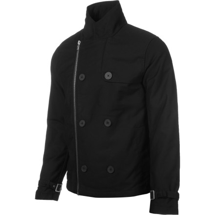 The cotton construction, fold-over collar, and full-zip front mean that, while the style is obvious, the KR3W Mercer Peacoat is still comfortable and versatile, so you can have style and comfort at the same time. - $58.98