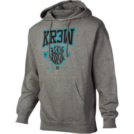 Declare all those around you to be chumps as you strut your victory strut, never allowing anyone to get near enough to you to feel your KR3W Champ Fleece Pullover Hoodie. These threads might as well be pure gold, baby. - $29.97