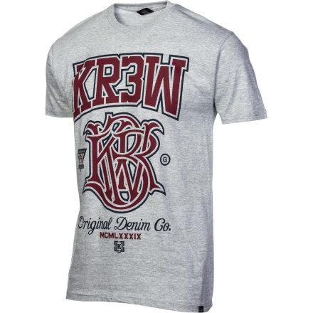 Sports Finally, having christened yourself king of work's B-league mud football league, you can proudly wear your KR3W Champ T-Shirt to your job shortly before you're fired for excessive trash talk. - $15.37