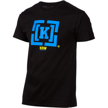 Challenge your friends and enemies to thumb wrestling contests as you brush off the shoulders of your KR3W Bracket T-Shirt. Just be careful about who you trash-talk, lest you get your fingers forcefully removed by a disgruntled ex-champ. - $15.37