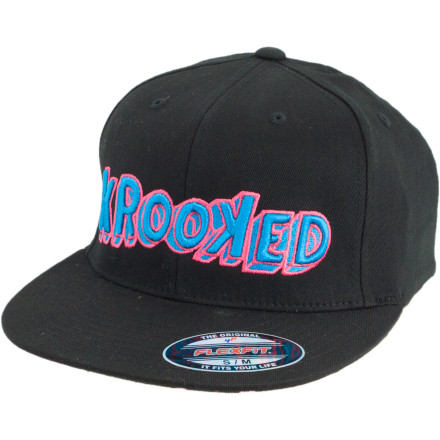 Skateboard The Krooked Trip Hat was conceived in an alternate universe full of melting walls, vivid colors, and dinner-plate-sized pupils. - $10.38