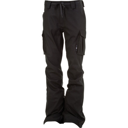 Snowboard The L1 Skinny Cargo Pant hooks up timeless cargo style in a modern skinny fit. The 10K-rated waterproof/breathable fabric protects you from all but the wettest winter weather, while the stretch twill fabric and articulated fit let you move without restriction. - $142.97