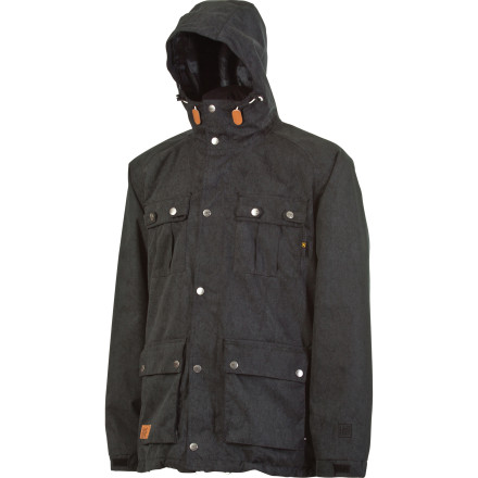 Snowboard The L1 Sutton Insulated Jacket features distressed oxford fabric for a vintage look and awesome hand-feel, and all the mountain-ready features you need to get after it from first chair to closing day. Dope details like metal snap closure pockets and custom L1 logo trims round out this versatile all-season slayer. - $121.48
