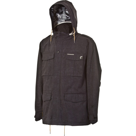 Snowboard The L1 Reducer Jacket delivers both classic M65 styling and bomb-proof construction. Ripstop fabric resists tears from tree branches, rocks, and those annoying mystery screws sticking out of haggard park features. - $112.48
