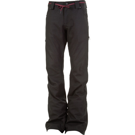 Snowboard The L1 Slim Chino Pant possesses technical, mountain-worthy features but has a style that veers in the same direction as the casual slim-fits you wear every day. Exposed and contrasting zippers, L1-branded trim, and classic muted colors make this a no-brainer for any shredder on the hunt for a pant with a modern, clean style. - $129.97