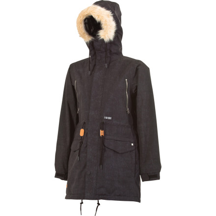 Snowboard The L1TA Women's Hayden Parka deftly rides the line between fashion-forward streetwear and feature-rich snowboard gear. This jacket will tear through the groomers with you all afternoon and then head out with you to grab dinner at the swanky new restaurant downtown. - $164.97