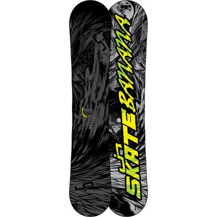 Skateboard Are you far too awesome for regular-width snowboards Do you like loose, forgiving freestyle fun If you answered 'yes' to these questions, congratulations! You're a perfect match for the Lib Tech Skate Banana Original BTX Wide Snowboard. The perfect combination of Banana Tech and Magne-Traction edge enhancements deliver an outrageously fun ride everywhere from park laps to pow fields. - $293.97