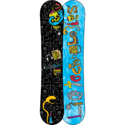Snowboard The Lib Tech Kids' Lib Ripper BTX Snowboard rides with the same all-mountain excellence as the Skate Banana built is built with a flex to accommodate smaller riders. - $191.97