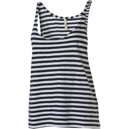 Surf Whether worn as a cover-up over your bikini top or layered over a fitted tank, the Lifetime Women's Striped Talia Tank Top keeps things natural and fresh looking. - $15.98