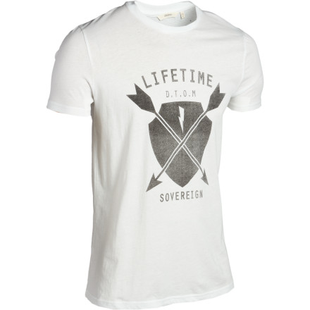 Do your best impression of a real arrow while wearing the Lifetime Arrow Slim Fit T-Shirt. We make no guarantees that you'll get a bull's-eye, or even hit the target. - $17.97