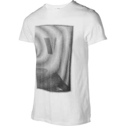 Who knows what artist Hunter Longe was thinking when he designed the graphic for the Lifetime Collective Moire Short-Sleeve T-Shirt Well, we do know that it wasn't inside of a box. - $16.47