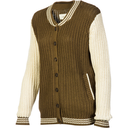 Sports Slide on the Lifetime Women's Varsity Sweater, grab a scarf and hat, and get ready for yet another rowdy football game. Its traditional college style fits right in while you cheer for your team at the top of your lungs. - $51.98