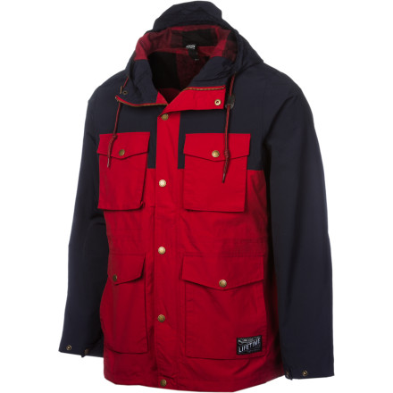 Perfect for the type of weather you could expect in its namesake city, the Lifetime Dublin Men's Jacket is perfect for going out on the town when the weather's looking dreary. PU-coated nylon fabric repels water and the flannel lining keeps you as toasty as a nip from the ol' bottle would. - $101.37
