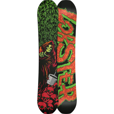 Snowboard The Lobster Youth  Baord Kids' Snowboard features Triple Base Technology to make riding catch-free and fun for kids, whether they're already sending the big booters, or they're still working their way up to the blue runs. It also has a soft flex that's forgiving and is a blast to jib, from the beginner boxes to the big boy rails. - $239.96