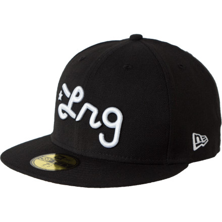 Sometimes the day-old donuts are brought out later than usual, so be ready to block the harsh morning sun while you wait with the fitted LRG Script Hat. - $17.97