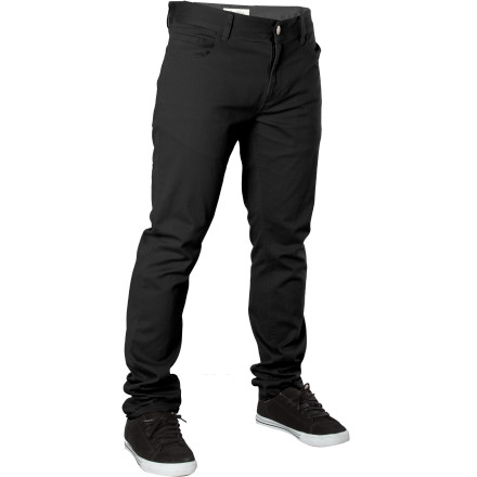 The LRG Core Collection Slim Straight Chino Pant proves you don't have to get stuck wearing department-store work pants in order to branch out from denim. Features a modern fit and slightly stretchy fabric for comfort and mobility. - $39.17