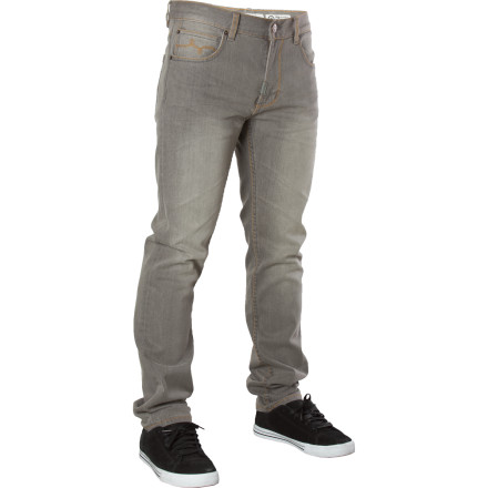 The LRG Core Collection Slim Straight Denim Pant offers around-the-house comfort even when you're swinging on jungle vines to escape a pack of carnivorous spider monkeys. Should they happen to catch you, they just might have enough respect for your street-wise style that they instead choose to make you their king. - $44.82