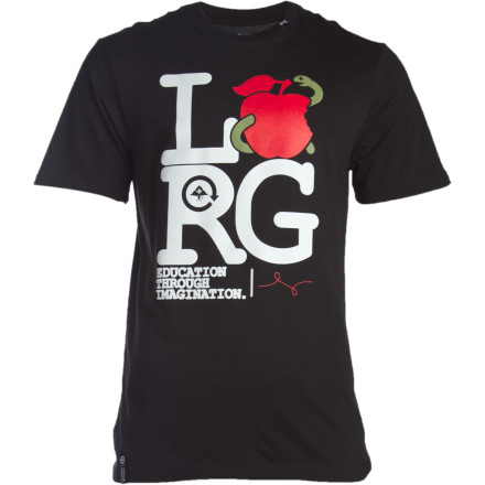 Protect your granny smiths because the LRG Men's Apple Eater T-Shirt is in town. Red delicious, heirloom or sour snap, this T-shirt will take'm all down without a thought. Oh, you needed that apple for your lunch Too bad sucka! - $16.77