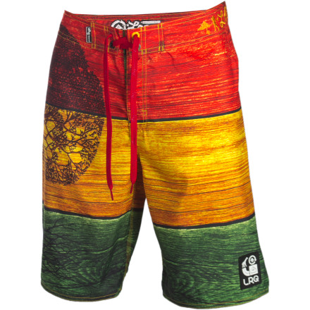 Surf Flip the switch and drop the top while you're wearing the LRG Men's Against The Grain Board Short. You could also grab your board, head down to the surf and stick your face in a barrel for the afternoon. Yeah, these quick-drying boardies wouldn't mind that.... - $33.57