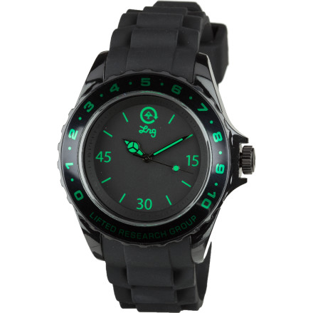 Entertainment The LRG Longitude Watch presents mixed elements both casual and sport-specific (such as a lightweight PU band, durable stainless steel housing, and numbered bezel) , all the while keeping you punctual with Japanese three-hand movement. - $61.95