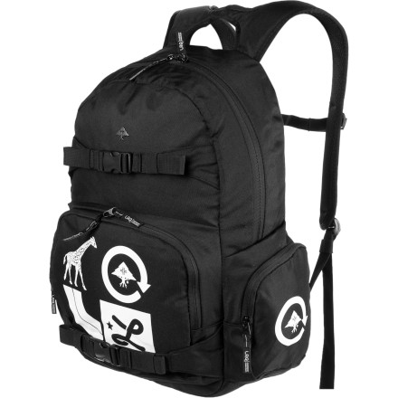 Skateboard With the LRG C.C. Group Backpack, you can haul everything you need for school and work and even have enough room left over for your free-time gear. As if your attached skateboard didn't already make that clear. - $45.95