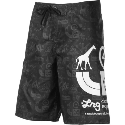 Surf The LRG Core Logo Board Short features tech material, casual style, and attention to detail to make a stand-out board short that you won't want to take off, even when you're out of the water. - $34.27