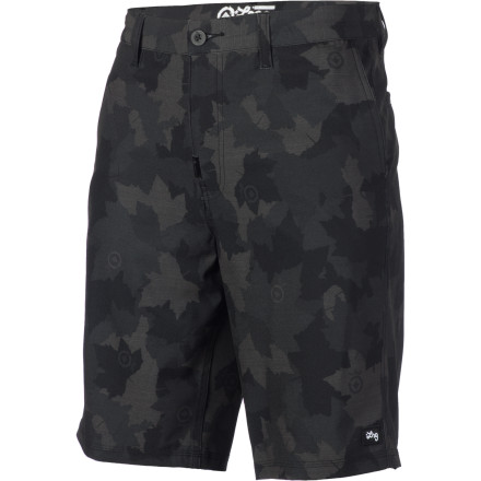 Surf The LRG Salamander Camo Short looks like a walk short, but feels, moves, and dries like a board short. Hence, the 'Boardwalk'. Do you see what they did there Those LRG kids sure are clever. - $35.37