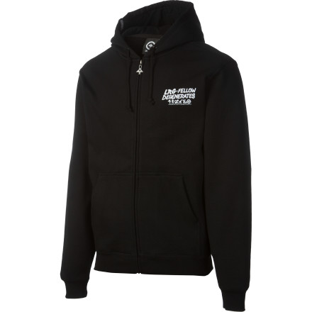 You couldn't figure out why everyone kept treating you like dirt. Was it the moldy dredlocks The half-empty beer cans in each hand The glazed-over look on your face Or maybe it was the LRG Scum Bag Mascot Full-Zip Hoodie - $26.53