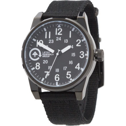Entertainment Class is the name of the game with the LRG Field and Research Watch. The stainless steel housing and genuine leather strap come together to tell the ladies you're a sophisticated modern gentleman. - $58.47