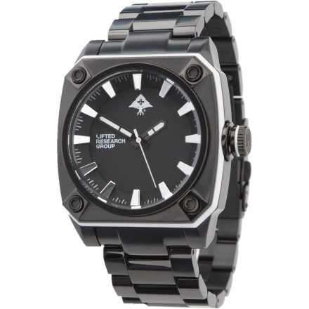 Entertainment The LRG Gauge Watch is like wearing a tuxedo t-shirt. It says you mean business, but its rugged look and durable construction mean you're also here to party. - $136.47