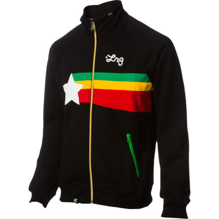 Follow the LRG Guiding Star Track Jacket's rasta rainbow graphic back to its origin, and you might get your hands on the proverbial pot of  gold. Acapulco, that is. - $47.37