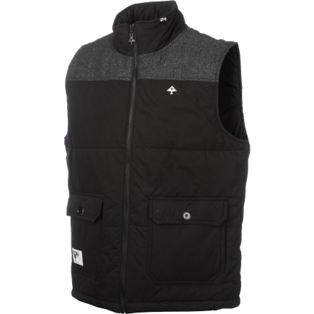 Whether you wear the LRG Men's Rockwood Puffy Vest because you like its outdoorsy swag or just because you hate being cold, this street-styled zip-up will give you just want you want. Throw it on over a button-up or under a shellyou'll be happy you did. - $78.36