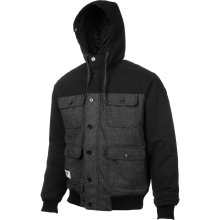 Fitness The LRG Men's Fathers Of Nature Jacket brings a rugged outdoor look down to the street. Whether you're running out to feed your prize-winning horses or heading into the chilly weather to grab a beer from the corner pub, this jacket will keep you looking good. - $115.96