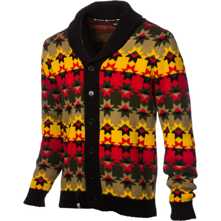 LRG took a classic look and gave it a modern twist with the Cliff Men's Cardigan. The suits may still think you're an upstanding young man, but the rasta pattern lets your homies know where your true loyalties lie. - $74.07