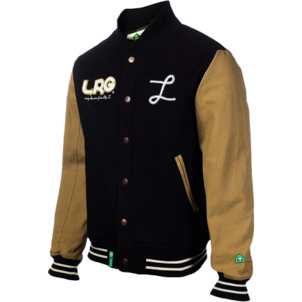 You may have been too busy skipping class and chasing ass to letter in anything when you were in school, but now LRG is giving you a chance to feel like a part of something bigger with the Team Player Jacket. - $107.97