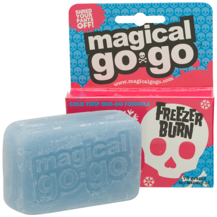 Snowboard The Magical Go-Go Freezer Burn Cold Temp Wax doesnt taste as good as that year-old cookies and cream in your icebox, but it sure makes your board or skis go faster than Chevy Chase on a metal disc-sled. The nice thing is that you can hot wax it, or just rub it on. - $7.46
