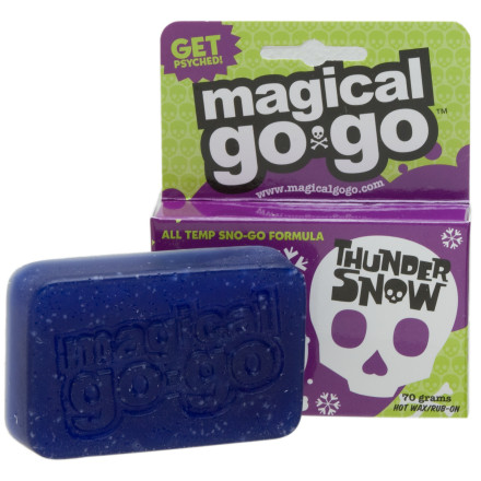 Snowboard Break the sound barrier on your shred-stick when you grease it up with Magical Go-Go Thunder Snow All Temp Wax. Instead of getting stuck on the flats, youll blow by tourists at Mach 5. They wont even hear you coming. - $7.46