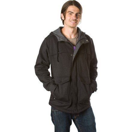 Roll out the door and into a new level of style in the Brandon Biebel signature Matix Men's Transporter Jacket. A cross between the most comfortable hoody you've every sported and a stylish, military-inspired fleece is how the Transport satisfies your need for warmth and comfort when you it's time for work or a night out. - $42.95